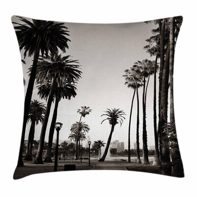 Palm Tree Los Angles Park View Square Pillow Cover Size: 16 x 16