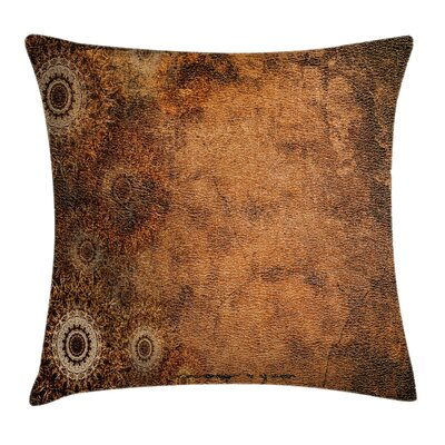 Aged Texture Vintage Floral Square Pillow Cover Size: 16 x 16