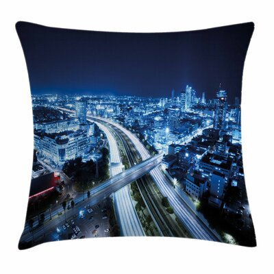 Tel Aviv Modern Square Pillow Cover Size: 24 x 24