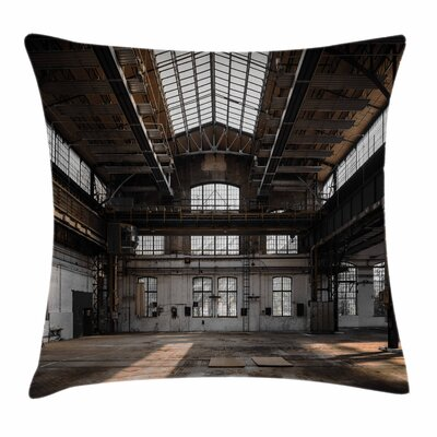 Old Hangar Square Pillow Cover Size: 24 x 24
