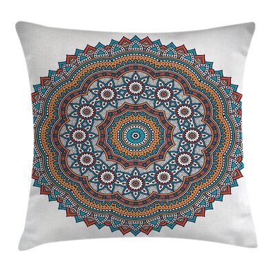 Fabric Vintage Moroccan Motif Square Pillow Cover Size: 20 x 20