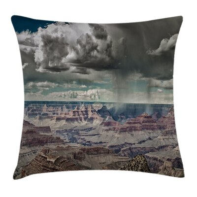 Nature Clouds on Grand Canyon Square Pillow Cover Size: 18 x 18