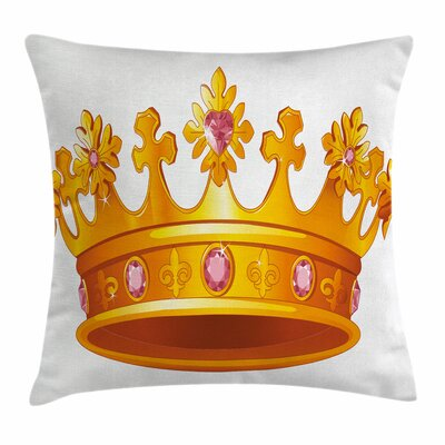 Crown Tiara Square Pillow Cover Size: 20 x 20