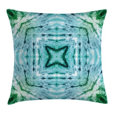 Abstract Art Figures Square Pillow Cover Size: 24 x 24