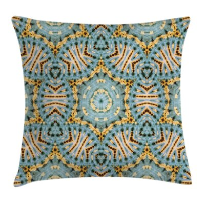 Tribal Indian Bohemian Square Pillow Cover Size: 16 x 16