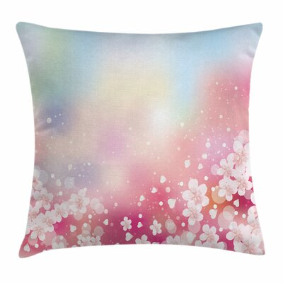 Blossoms Square Pillow Cover Size: 18 x 18