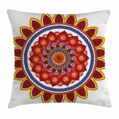 Summer Flowers Joy Square Pillow Cover Size: 16 x 16