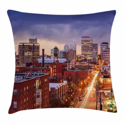 United States Richmond Virginia Square Pillow Cover Size: 16 x 16