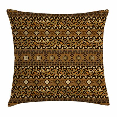 Wild Tropical Animal Square Pillow Cover Size: 18 x 18