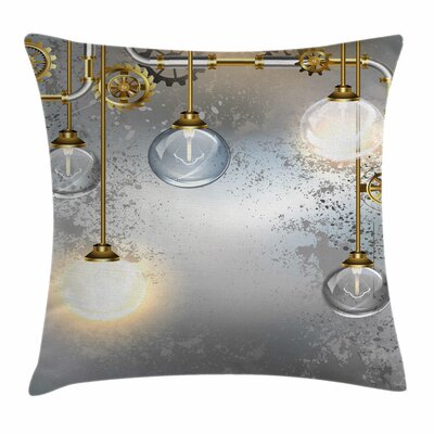Round Figures Square Pillow Cover Size: 18 x 18