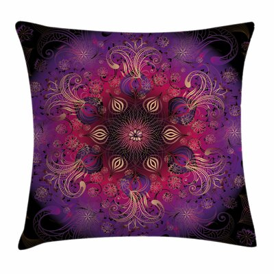 Mandala Floral Persian Square Pillow Cover Size: 18 x 18