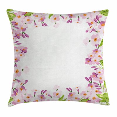 Shabby Elegance Decor Spring Blooms Square Pillow Cover Size: 24 x 24