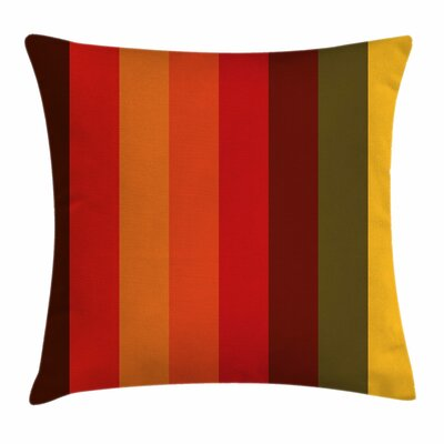 Abstract Vertical Striped Artsy Square Pillow Cover Size: 24 x 24
