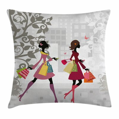Teen Room Decor Retro Streets Square Pillow Cover Size: 16 x 16