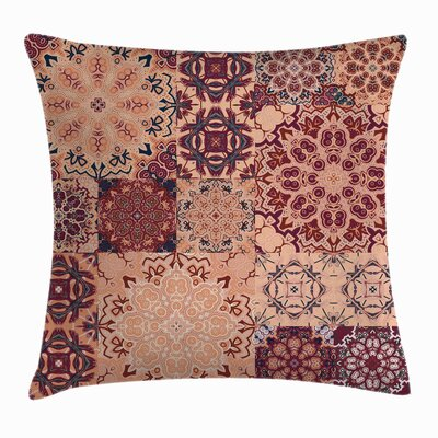 Vintage Antique Morroccan Art Square Pillow Cover Size: 20 x 20
