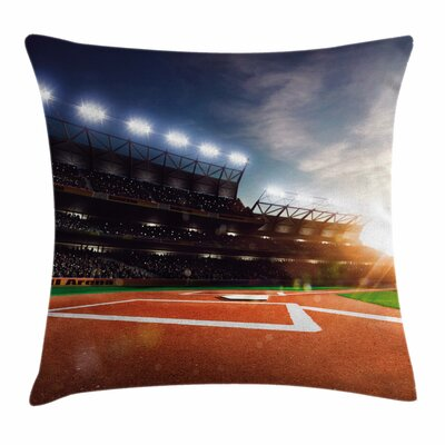 Baseball Arena Square Pillow Cover Size: 18 x 18