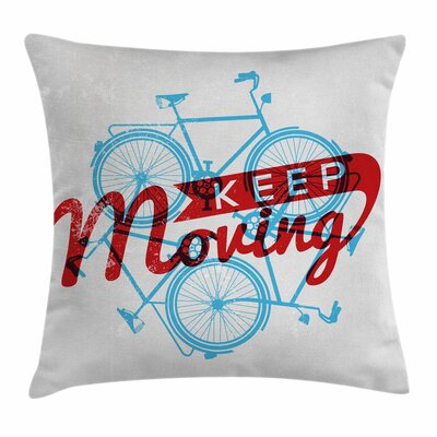 Hipster Lifestyle Quote Square Pillow Cover Size: 24 x 24