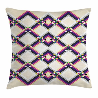 Abstract Geometric Squares Square Pillow Cover Size: 20 x 20