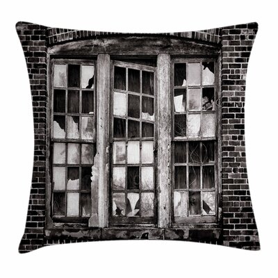 Broken Window Square Pillow Cover Size: 16 x 16