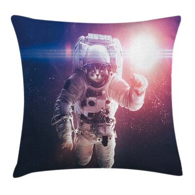 Cat Clusters Eclipse Space Square Pillow Cover Size: 16 x 16