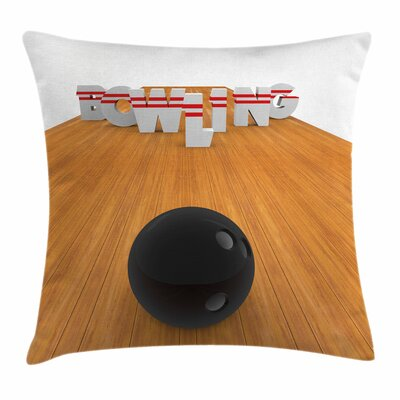 Bowling Party Alley Skittles Square Pillow Cover Size: 18 x 18