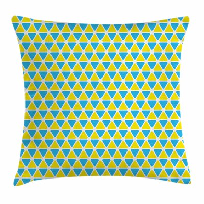 Triangle Forms Square Pillow Cover Size: 18