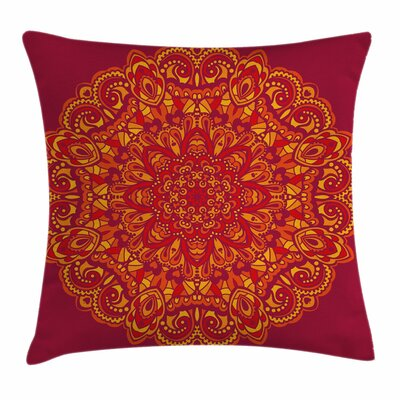 Psychedelic Ancient Square Pillow Cover Size: 24 x 24