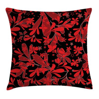 Oceanic Island Flower Square Pillow Cover Size: 18 x 18