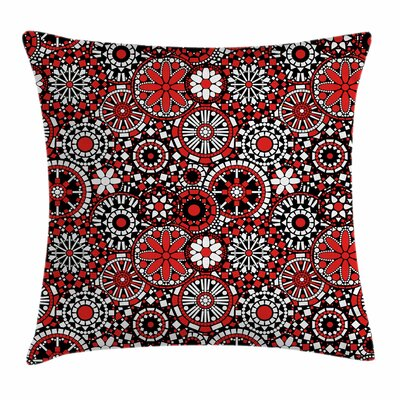 Geometrical Flowers Square Pillow Cover Size: 16 x 16
