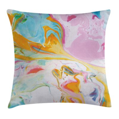 Surreal Abstract Art Square Pillow Cover Size: 16 x 16