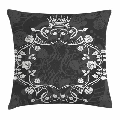Royal Flora Crown Square Pillow Cover Size: 16 x 16
