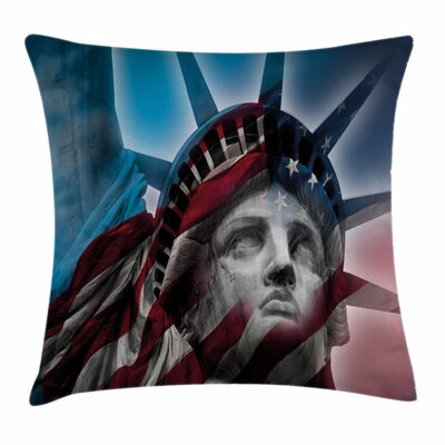 United States Liberty Freedom Square Pillow Cover Size: 16 x 16