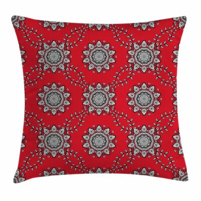 Swirls Floral Mesh Square Pillow Cover Size: 24 x 24