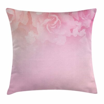 Roses Bridal Art Square Pillow Cover Size: 16 x 16