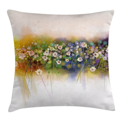 Floral Romance Flowers Bouquet Square Pillow Cover Size: 18 x 18