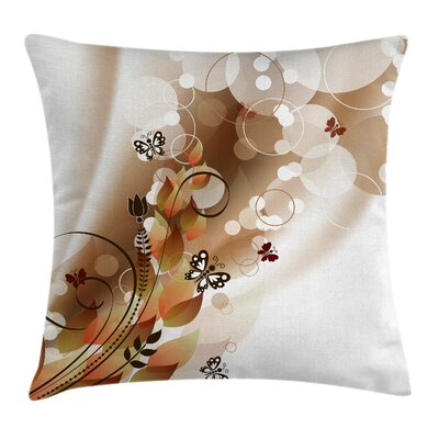 Spring Themed Abstraction Square Pillow Cover Size: 18 x 18