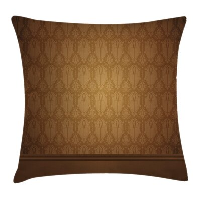 Damask Royal Aged Square Pillow Cover Size: 20 x 20