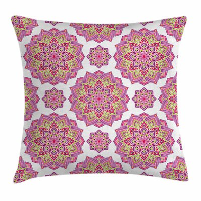 Mandala Lotus Essence Square Pillow Cover Size: 16 x 16