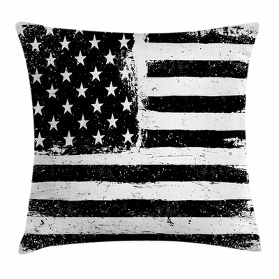 United States American Flag Square Pillow Cover Size: 20 x 20