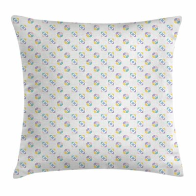 Kaleidoscopic Motif Square Pillow Cover Size: 18 x 18