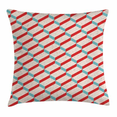 Abstract Fractal Stylized Motif Square Pillow Cover Size: 24 x 24