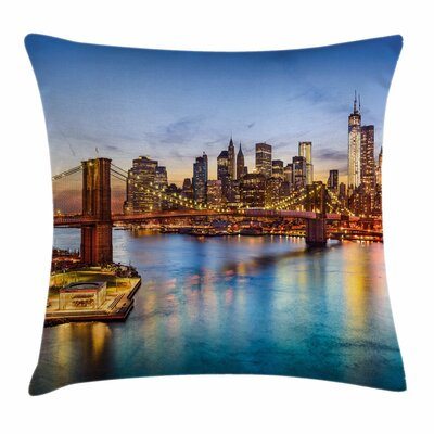 United States New York City Square Pillow Cover Size: 16 x 16