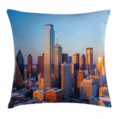 United States Dallas Sunset Square Pillow Cover Size: 24 x 24