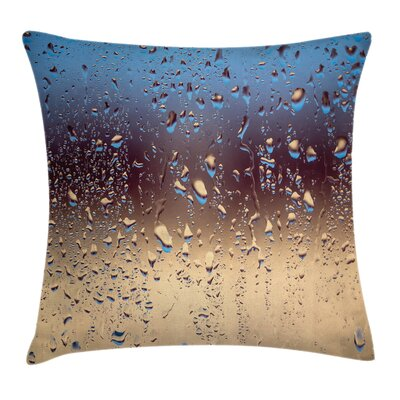 Rainy Day Window Effect Square Pillow Cover Size: 18 x 18