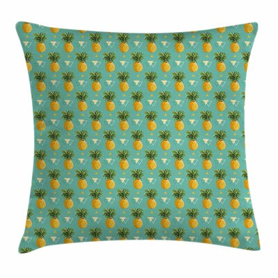 Pineapple Geometric Hipster Square Pillow Cover Size: 24 x 24