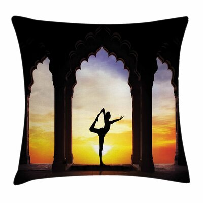 Yoga Man Pillow Cover Size: 18 x 18
