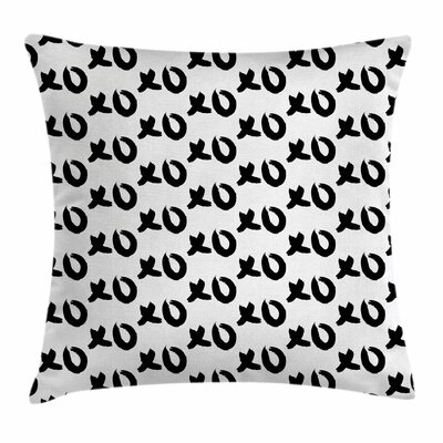 Xo Decor Paintbrush Words Art Square Pillow Cover Size: 24 x 24