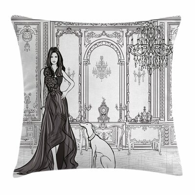 Teen Room Decor Fashion Woman Square Pillow Cover Size: 18 x 18
