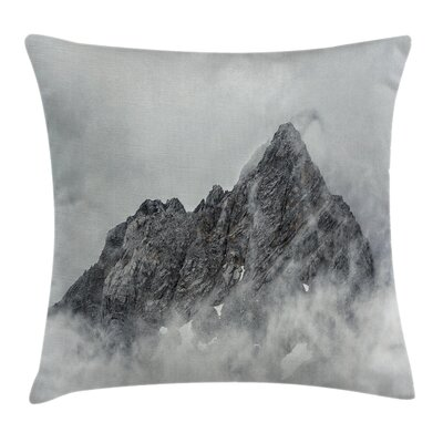 Foggy Mountain Peak Square Pillow Cover Size: 16 x 16