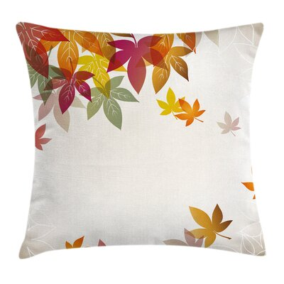 Fall Decor Maple Leaves Art Square Pillow Cover Size: 24 x 24